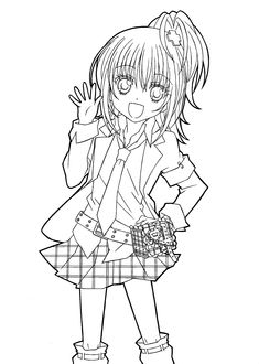 Hotaru from Shugo chara anime coloring pages for kids, printable free