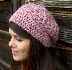 crothet bacon hat | Slouchy hat free pattern | Crochet Ideas