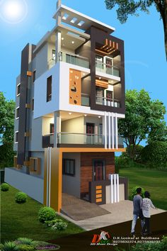 Hone In 2019 Duplex House Design House Front Design 757001 House Design 3d, 3 Storey House Design, Bungalow Haus Design, Home Building Design, House Front Design, House Design Photos, Building Exterior, Container Home Designs, Style At Home