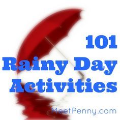 Need activities to do on a rainy day? Check out these 101 fun things to do on a rainy day at home with links to the instructions. Not your ordinary cut & paste kind of stuff! Most of these rainy day activities are linked to tutorials and instructions to make life even easier. Have fun!
