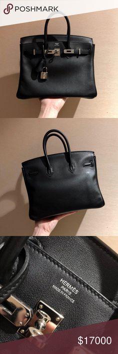 bf774286ac 2017 Hermès Swift Black Platinum Hardware Stamp A