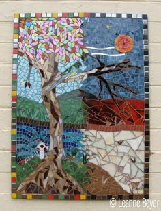 Mosaic Street Mural by Leanne Beyer