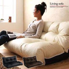 Samurai Furniture: ★ in the arrival report view 500 yen discounted ★ reclyning Chair floor Chair 座いす two people hung on a Japan-made domestic compact sofa sofa two seat with leather ivory The Arrival, Coffee Nook, Sofa Sofa, Couch, Two People, Floor Chair, Recliner, Samurai, Compact