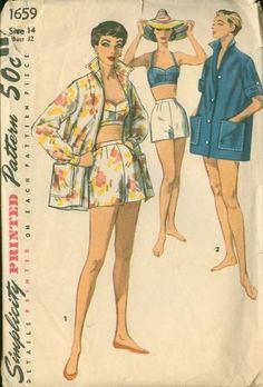 PastForwardPatterns copy available.....Vintage 50s Advance 1659 sewing pattern
