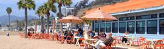 BACK ON THE BEACH: Nestled on a wide stretch of sandy beach, Back on the Beach Café offers appetizing meals featuring local and seasonal cuisine with breathtaking views of ocean, mountain, pier, and Catalina Island. Generations of Angelinos have been coming to our landmark restaurant since 1989. 445 pacific coast hwy, (aka palisades beach road), Santa Monica, CA90402, (310) 393.8282