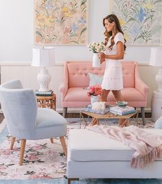 GAL MEETS GLAM GARDEN PARTY RUG IS FINALLY HERE!! SHOP THE EXCLUSIVE LOOK WITH LULU AND GEORGIA! #LANDGATHOME