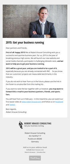 Robert Krause Consulting Newsletter #1: http://eepurl.com/bbx2A5  / Sign up here: http://eepurl.com/bbwUfD / More: http://www.robert-krause.com