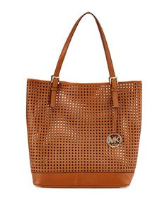 Bridget+Perforated+Leather+Tote,+Luggage+by+MICHAEL+Michael+Kors+at+Neiman+Marcus+Last+Call.