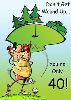 Humorous Golf Card on Craftsuprint designed by Crafty Bob - This humorous card is suitable for any gold fan! It can be personalised with your choice of text. - Now available for download!