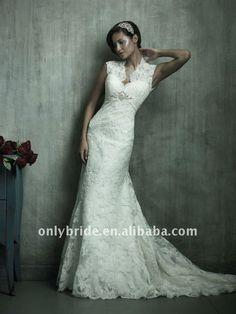 cap sleeve beaded lace mermaid gown 2