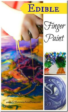 Edible Finger Paint - simple to make and makes for a great #sensory kids activity for #preschool #toddler