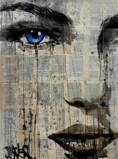 ARTFINDER: wild winds by Loui Jover - I enjoy drawing woman's faces, especially concentrating on showing the emotion in the eyes and face