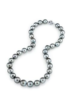 Radiance Pearl CERTIFIED 11-13mm Silver Tahitian Pearl Necklace - Beyond the Rack