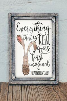 The Velveteen Rabbit 8x10 Watercolor Nursery by FiveCentStudio