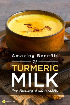 Turmeric Milk: 11 Super-Powerful Benefits Of The Golden Milk You are in the right place about curcuma recetas Here we Turmeric Milk Benefits, Calendula Benefits, Coconut Health Benefits, Turmeric Tea, Golden Milk Benefits, Turemic Benefits, Tumeric Latte, Turmeric Golden Milk, Health And Nutrition