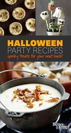Find the spookiest appetizer for your next Monster Bash! Click through here: http://www.bhg.com/halloween/recipes/halloween-recipe-ideas/?socsrc=bhgpin083114halloweenappetizers