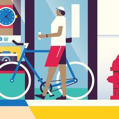 cyclist guy getting cut from today's illo. sorry mr. cyclist guy.