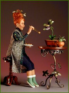 Jodi & Richard Creager create One-of-a-kind Art Dolls. Ooak Dolls, Barbie Dolls, Art Dolls, Dollhouse Dolls, Miniature Dolls, Miniature Houses, Doll House People, Bjd, Polymer Clay Dolls