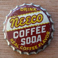 Coffee Soda Bottle Cap