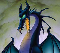 Maleficent as a dragon
