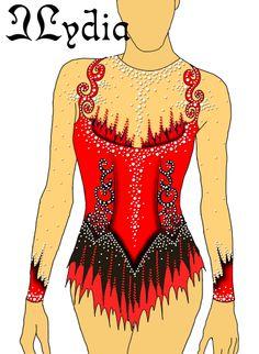 Competition Rhythmic gymnastic leotards Design Tango