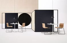 Arper / office space with freestanding Parentesit  and Catifa chairs, all by lievore altherr molina
