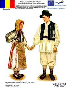 Romanian traditional clothes Folk Costume, Costumes, Fashion Sketches, Dream Dress, Traditional Outfits, Folk Art, Hipster, Embroidery, 1 Decembrie