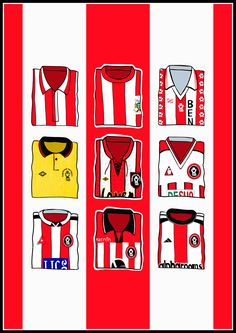 A design inspired by classic Sheffield United home shirts. All designs are hand drawn by hallyink and not official Sheffield United products. British Football, Best Football Team, Sheffield United Fc, Sheffield Steel, Bramall Lane, Pinterest Marketing, Social Media Marketing, Blade, How To Draw Hands