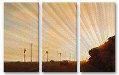 'California Road 7' by Relja Penezic 3 Piece Graphic Art Plaque Set