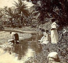 Native Washerwomen, Jamaica | Item: 1-523 Title: Native Wash… | Flickr