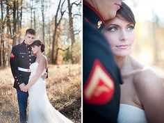 Winter Marine wedding, stunning bride