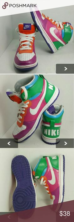 NIKE BIG HIGH DUNK WOMEN'S SHOES VERY CLEAN INSIDE-OUT   SKE # TU Nike  Shoes Athletic Shoes