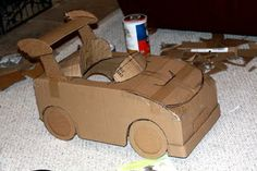 how to make a diecast cardboard car | So I didn't get off the handmade hook this year entirely...