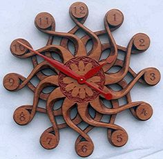 Handcarved Wall Clock--Solaris. $627.00, via Etsy.