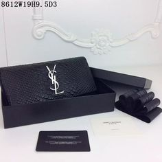 monogrammed leather clutch - YSL red Wallet | Wallets, Red and I Am