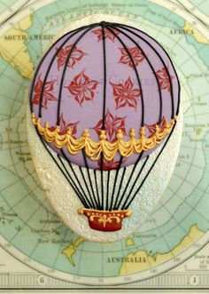 Honeycat Cookies ~ Hot Air Balloon