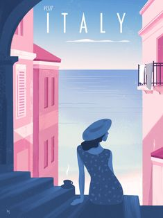 Italy retro glamour travel poster, Martin Wickstrom Cruise Tips Royal Caribbean, Last Minute Travel Deals, Art Deco Posters, Visit Italy, Vintage Travel Posters, Tag Art, Wall Art Decor, Aurora Sleeping Beauty, Retro