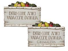 Italian Plaque Italian Wall Art Tuscan Wall Plaque Italian - Italian wall decor
