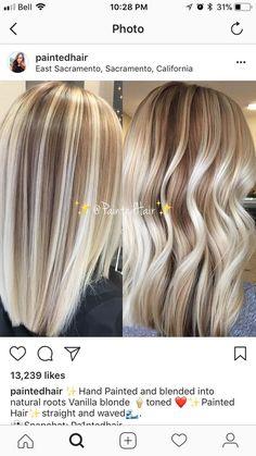 Hair Blond, Blonde Hair Looks, Blonde Hair With Highlights, Blonde Balayage, Brown Hair, Hair Color Techniques, Hair Color And Cut, Hair Colour, Pinterest Hair