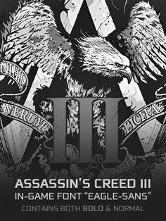 Assassin's Creed 3 In-Game Font - Eagle Sans by Rapsound.deviantart.com