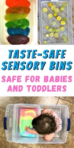 Edible Sensory Play, Baby Sensory Play, Baby Play, Sensory Table, Sensory For Babies, Toddler Sensory Bins, Sensory Boxes, Baby Learning Activities, Sensory Activities Toddlers