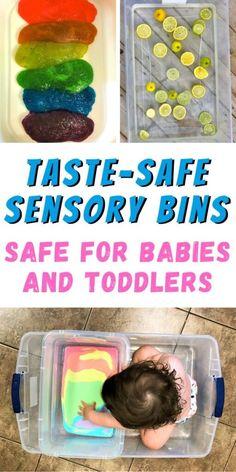 Edible Sensory Play, Toddler Sensory Bins, Infant Sensory Activities, Baby Sensory Play, Toddler Learning Activities, Toddler Play, Baby Learning, Baby Play, Preschool Activities