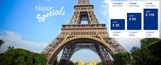 Goedkoop per trein naar Parijs? Tijdens de NajaarsSpecials al vanaf € 29,- (OP=OP). Daarna € 35,- (absolute aanrader)!