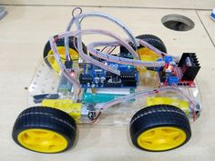 how to make Arduino Bluetooth RC car. this is a very simple and basic project from the Arduino. and also a very popular project Electronics Components, Diy Electronics, Arduino Bluetooth Rc Car, Rc Controller, Rc Cars, Car Ins, Robot, Blue Tooth, Followers
