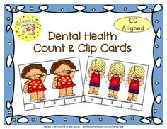 These cards are terrific for Math Centers – A Hands-On Activity your kiddos will love!  Dental Health Clip Cards allow learners to practice counting. WAIT, THERE'S MORE!!! More cards that is. Now, you have 20 clip cards! Dental Health Count & Clip Cards help your little tykes practice counting from 1 to 20!!!