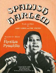 """Aretha Franklin """"Spanish Harlem"""" (1971) — British sheet music"""