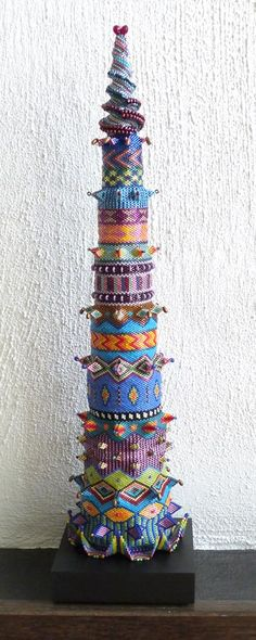 Bead Tower by Dorothy Siemens.