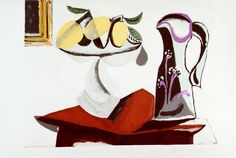 Still Life With Lemon and Jug - Pablo Picasso