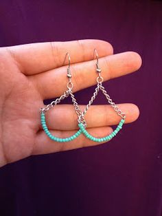 Eat, Breathe, Create. Repeat Daily.: DIY Chain and Seed Bead Drop Earrings