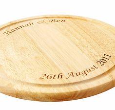Personalised Chopping Board Round/Rectangular